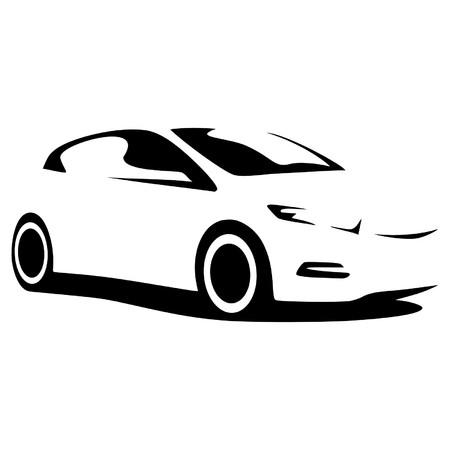 motor de carro: vector coche silueta
