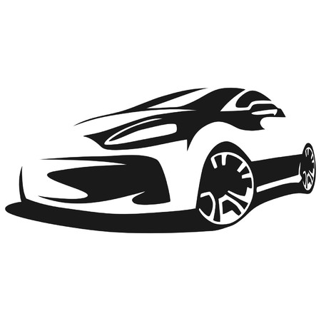 Silhouette tuning car Illustration