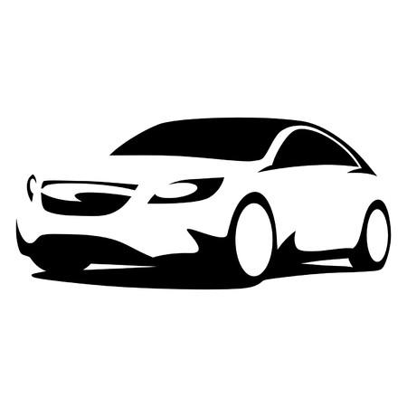 Silueta del coche moderno