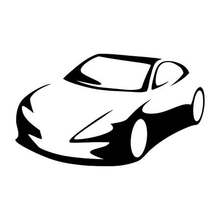 black car: Modern car silhouette Illustration