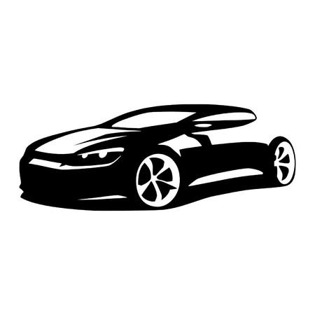 speed car: car silhouette vector Illustration