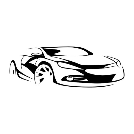 Sport car silhouette Banque d'images - 52064567