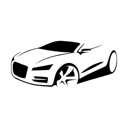 Auto Silhouette Vektor- Standard-Bild - 58127323