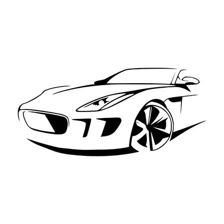 Sports car silhouette vector