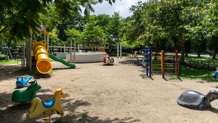 jungle gyms: playground equipment Stock Photo