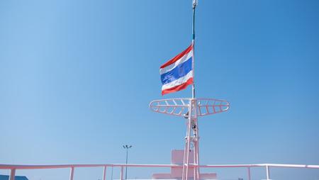 thai flag: Thai flag on boat