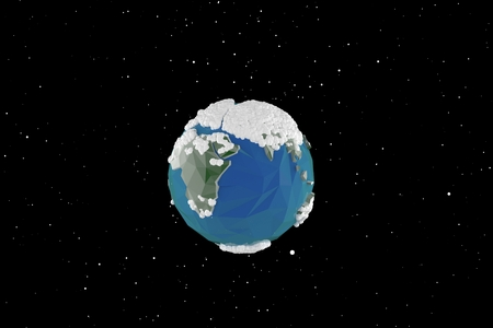 render: 3D render background earth Stock Photo