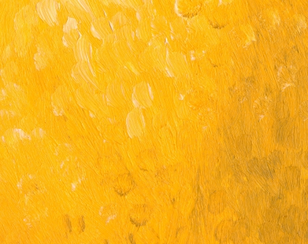 oil paintings: Closeup - part of oil painting - yellow background