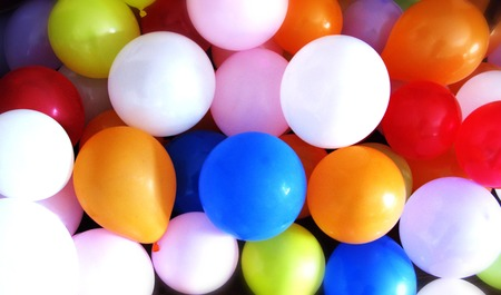 Colorful multicolored background balloons on the ground