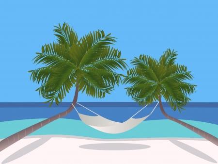 exotica: Holidays on the beach Illustration