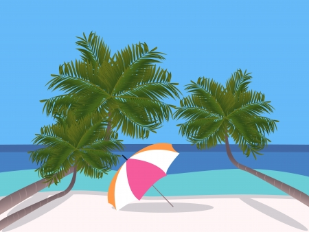 exotica: Holidays on the beach Illustration