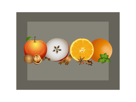 apple cinnamon: Christmas scent Illustration