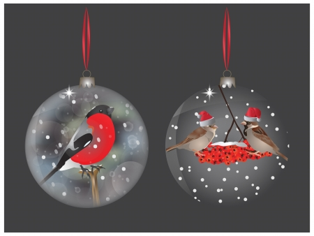 Amazing Christmas balls Vector