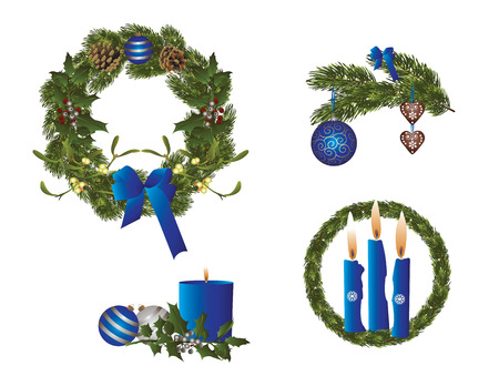 evening ball: Christmas in blue