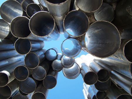 A fragment of Sibelius monument in Helsinki