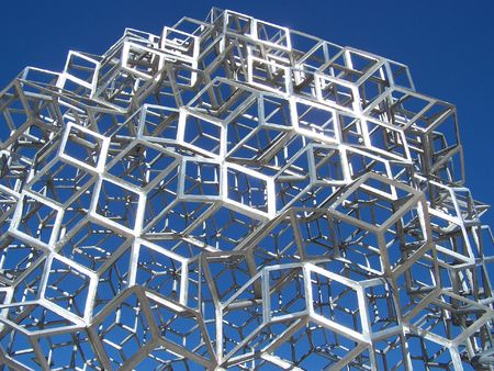 rhombus: Metal construction shining in the sun