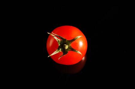 fare: A lone tomato Stock Photo