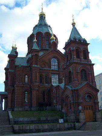 cupolas: Uspenski cathedral in Helsinki