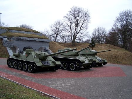 brest: Tanks in Brest Fortress memorial, Belarus