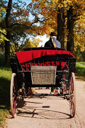 Old-time Carriage in the park photo