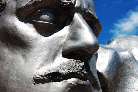 sibelius: Determination (Fragment of Sibelius monument in Helsinki) Stock Photo