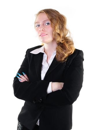 Smiling businesswoman standing with her hands crossed Stock Photo - 8293194