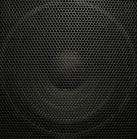 Concert audio speaker, closeup photo