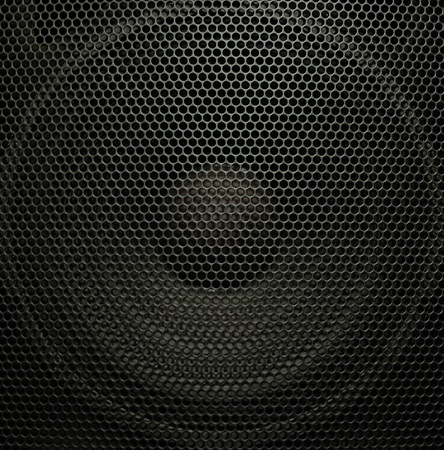 Concert audio speaker, closeup photo