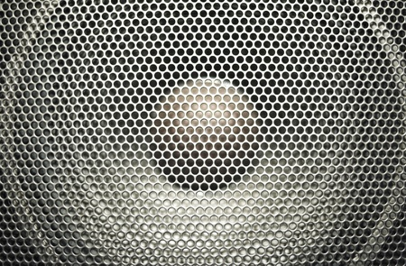 Concert bright silver audio speaker photo
