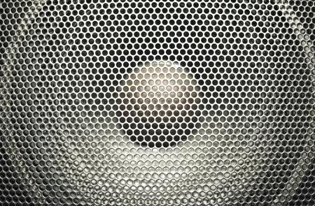 Concert bright silver audio speaker Stock Photo - 8444257