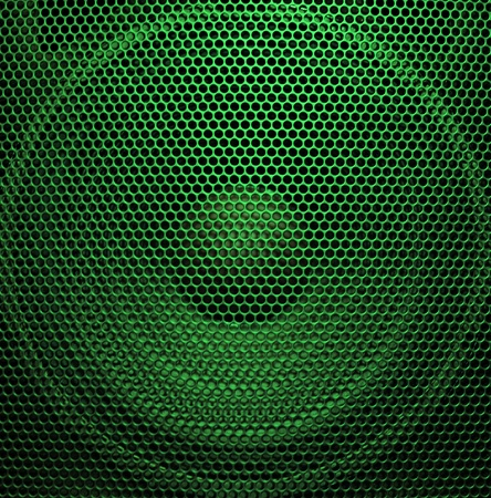 Audio speaker of bright green color Stock Photo