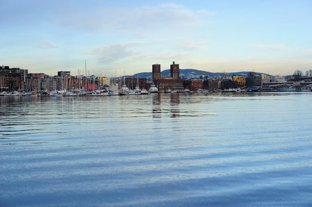 Beautiful view from the fjord to Oslo city