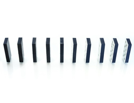 Row of dominoes standing vertically Stock Photo - 8863425