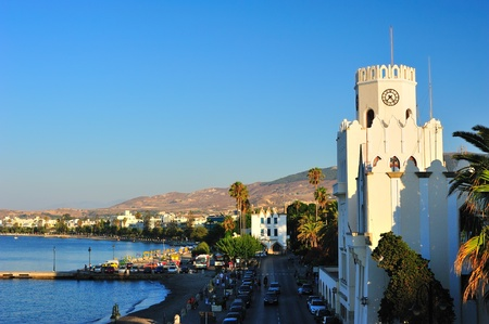 Coastline in a Greek town of Kos