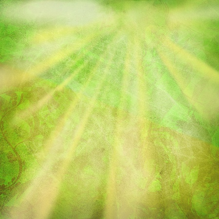 Abstract summer background with sun rays  photo