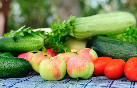 Autumn harvest on a table Standard-Bild