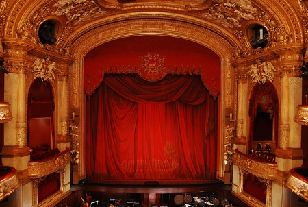 Stockholm, Sweden - December 30, 2008: Royal Swedish Opera in Stockholm, part of the luxurious interior Editorial