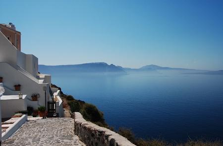 Beautiful landscape of Oia (Santorini island, Greece)