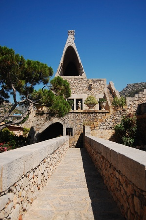 garraf: Part of the old cellar built by famous Spanish architect Antonio Gaudi (Garraf village near Barcelona, Spain) Stock Photo
