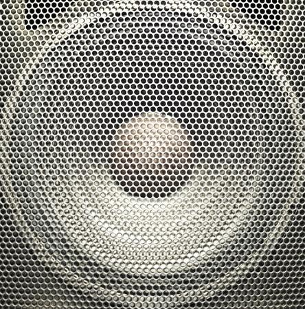 Concert bright silver audio speaker Stock Photo - 10905688