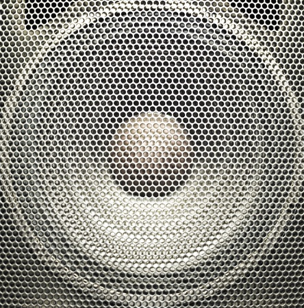 guitar amplifier: Concert bright silver audio speaker