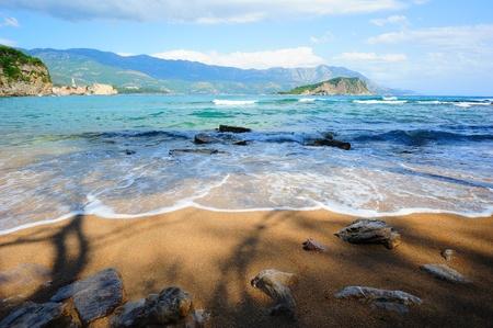 Paysage magnifique sur la mer au Mont�n�gro Banque d'images