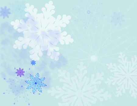 Snowflakes pastel vector background Vector