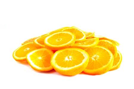 Orange rings arranged in the shape of a pie