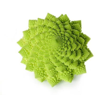 Romanesco broccoli isolated on white