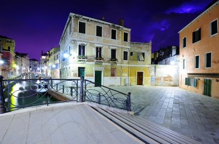 Dramatic sky nightscape of Venice  photo