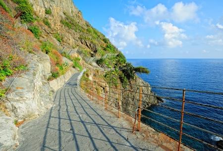 Via dell'Amore (weg van de liefde) in het Nationale Park van Cinque Terre, Italië