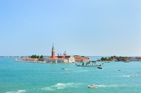 Picturesque landscape of San Giorgio Maggiore Island in Venice  view from the Doge
