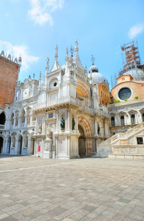 San Marco cathedral - view from the inner yard (Venice, Italy)  photo