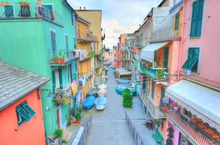 italian village: Street in a traditional Italian village Manarola (Cinque Terre, Italy)